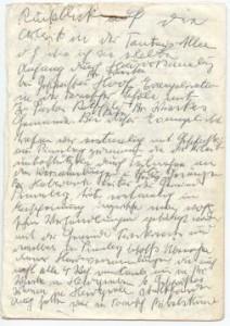 Originalhandschrift von Schwester Lübke